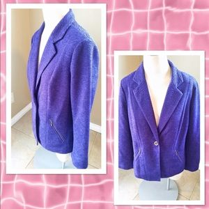 Chico's crepe purple blazer jacket size 1